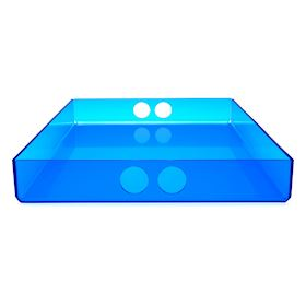 Large Serving Tray Blue Acrylic