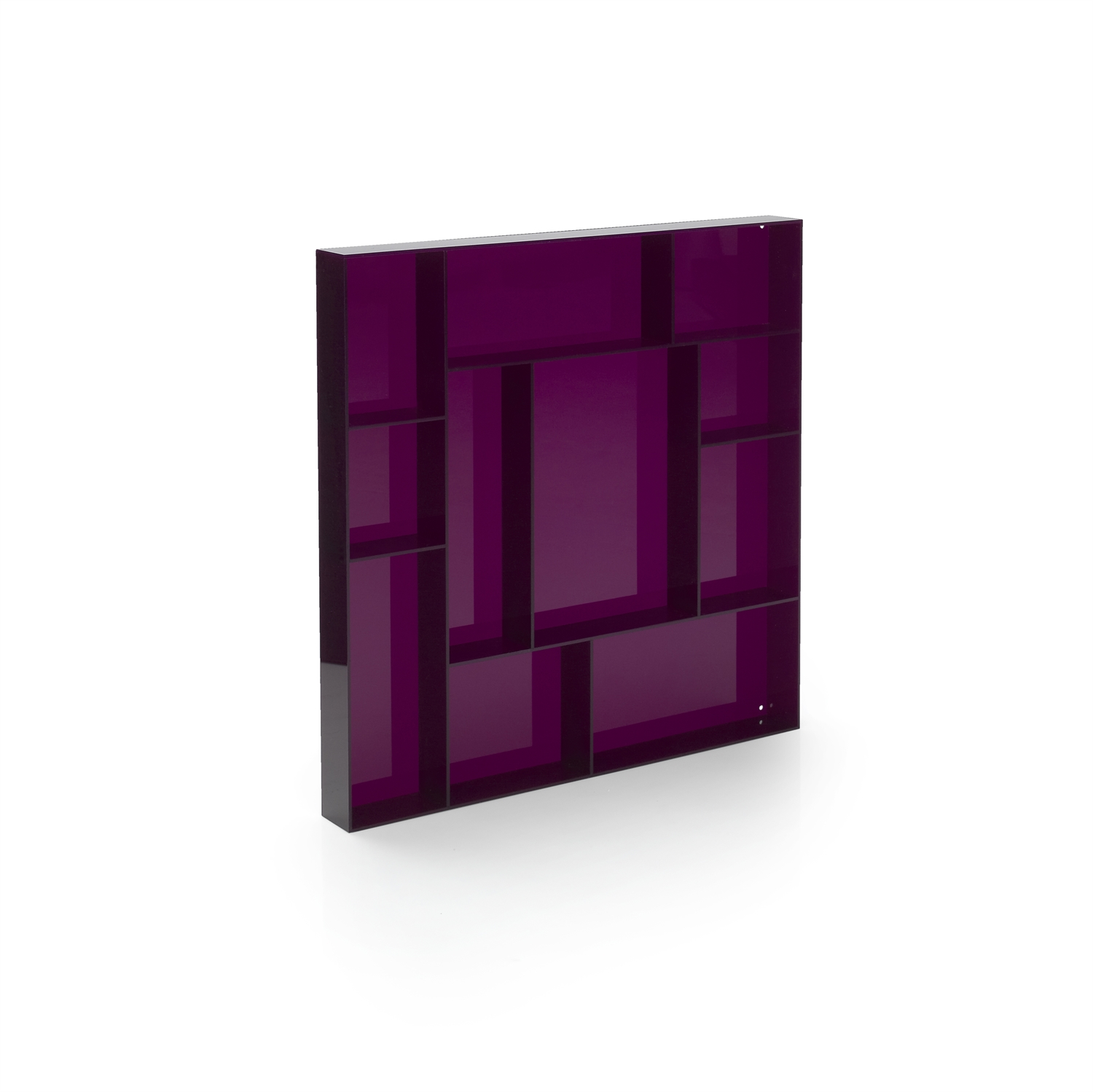 Purple acrylic square type case