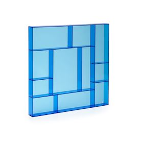 Blue acrylic square type case