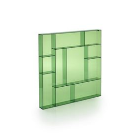 Green acrylic square type case
