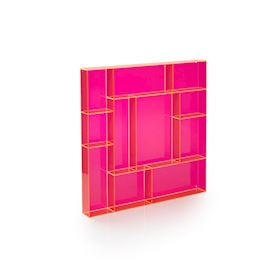 Pink acrylic square type case
