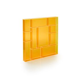 Orange acrylic square type case