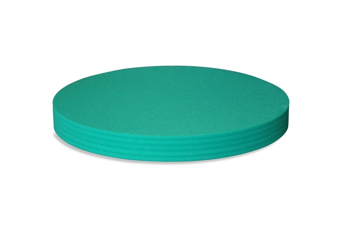 Round Polyethylene foam sheet green