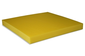 Squared Polyethylene foam sheet yellow