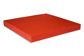 Squared Polyethylene foam sheet red