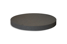 Round Polyethylene foam sheet black