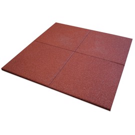 UniSoft Rubber Tile Red 50 x 50 cm