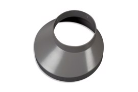 Downpipe drain collar 130 mm Grey 75 mm