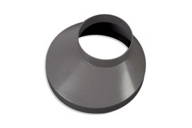 Downpipe drain collar 150 mm Grey 75 mm
