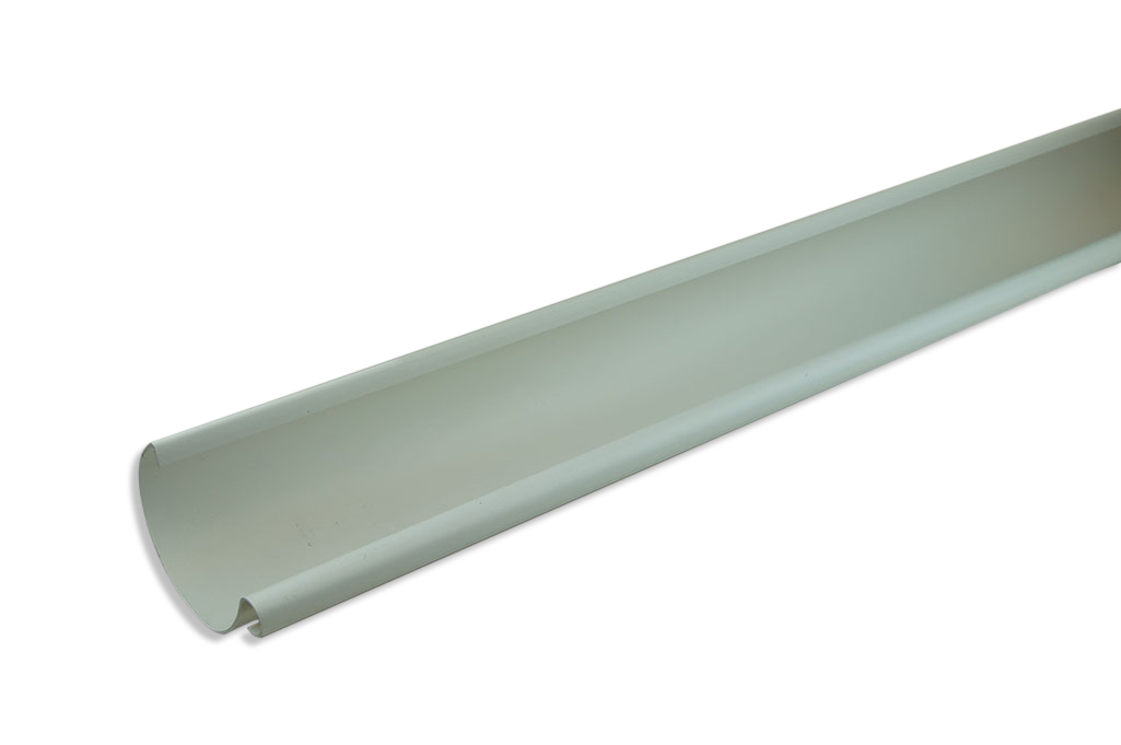 WHITE PLASTIC GUTTER ? a nice light finish